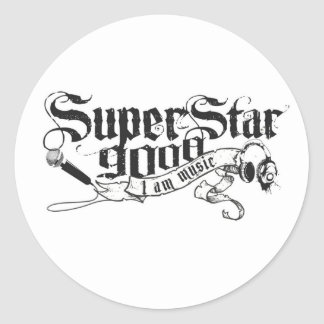 Official Superstar 9000 Apparel Store is open Classic Round Sticker