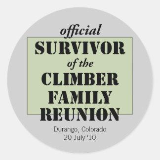 Official Survivor (green) Classic Round Sticker