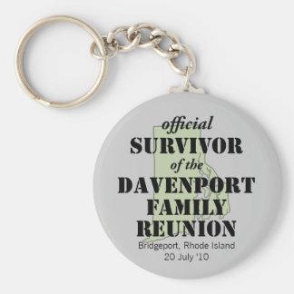 Official Survivor (green) Basic Round Button Keychain
