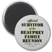 Official Survivor (green) magnet