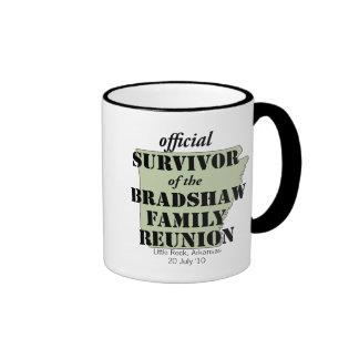 Official Survivor of Family Reunion (green) Ringer Coffee Mug