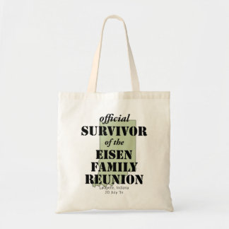 Official Survivor of Family Reunion - Indiana Tote Bag