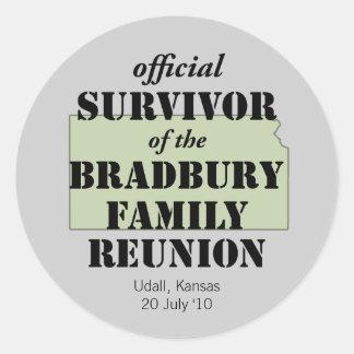 Official Survivor of Family Reunion - Kansas Classic Round Sticker