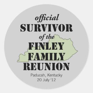 Official Survivor of Family Reunion - Kentucky Classic Round Sticker