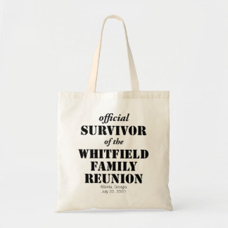 Official Survivor of Our Family Reunion Tote Bag