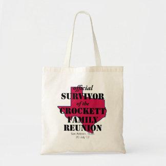 Official Survivor of Texas Family Reunion (red) Tote Bag