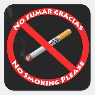 official_symbol_no_smoking_English_Spanish Square Sticker