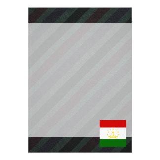 "Official Tajikistan Flag on stripes 5"" X 7"" Invitation Card"