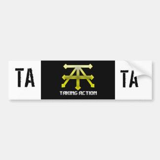 Official Taking Action Merch Bumper Sticker