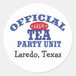 Official Tea Party Unit Classic Round Sticker