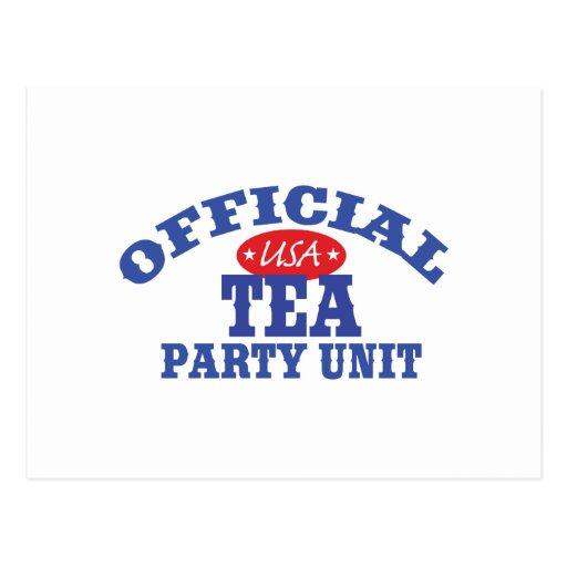 Official Tea Party Unit Postcard