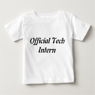 Official Tech Intern Tshirt for Kids Science Tee