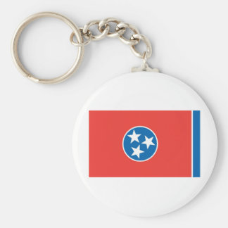 Official Tennessee State Flag Basic Round Button Keychain