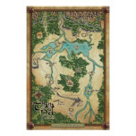 Official Thana Pel Map (Legend of the Winterking) Posters