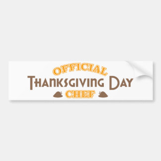 Official Thanksgiving Day Chef Bumper Stickers