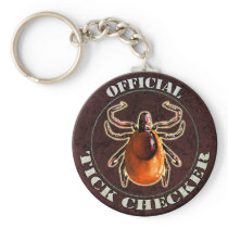 Official Tick Checker keychain