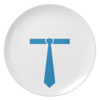 Official tie shaped like T Dinner Plate