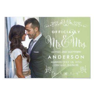 Official Titles Wedding Announcement - Sage