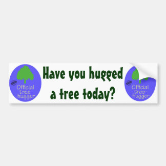 Official Tree-Hugger Bumper Sticker