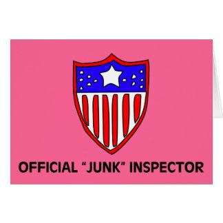 Official TSA Junk Inspector Dark Card