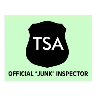 Official TSA Junk Inspector Dark Postcard