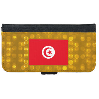 Official Tunisian Flag Wallet Phone Case For iPhone 6/6s