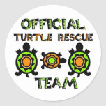 Official Turtle Rescue Team 1 Classic Round Sticker