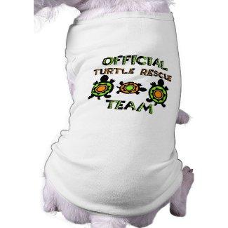 Official Turtle Rescue Team 1 zazzle_petshirt