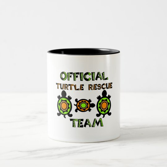 Official Turtle Rescue Team 1 Two-Tone Coffee Mug