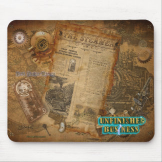Official UnBiz Steampunk Movie Merchandise (teal) Mouse Pad