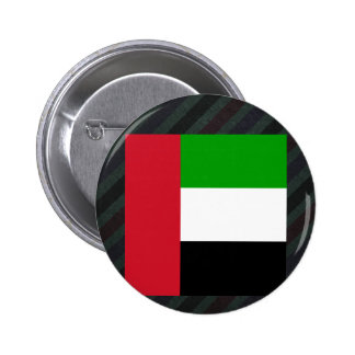 Official United Arab Emirates Flag on stripes Button