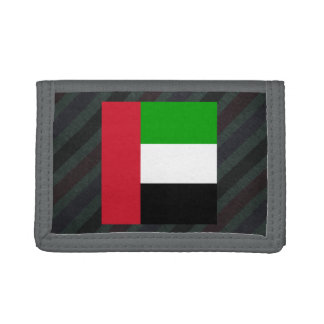 Official United Arab Emirates Flag on stripes Trifold Wallets