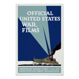 Official United States War Films -- WWI Print