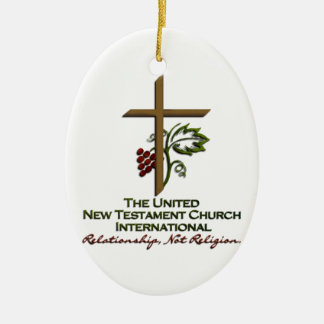 Official UNTCI Member Gear Double-Sided Oval Ceramic Christmas Ornament