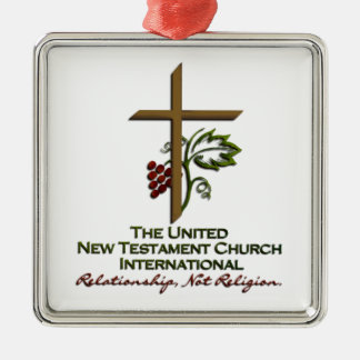 Official UNTCI Member Gear Square Metal Christmas Ornament