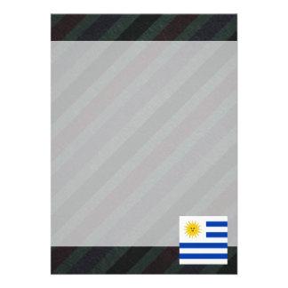 Official Uruguay Flag on stripes Card