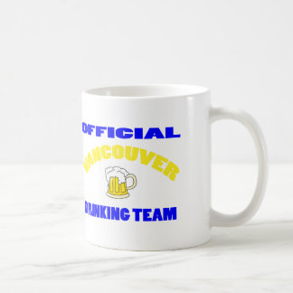 OFFICIAL VANCOUVER DRINKING TEAM CLASSIC WHITE COFFEE MUG