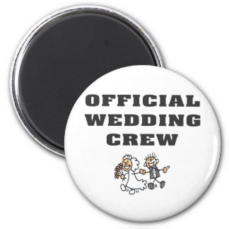 Official Wedding Crew 2 Inch Round Magnet