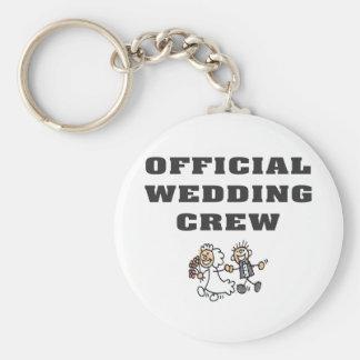 Official Wedding Crew Basic Round Button Keychain