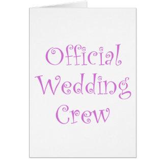 Official Wedding Crew Card