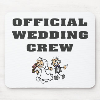 Official Wedding Crew Mouse Pad