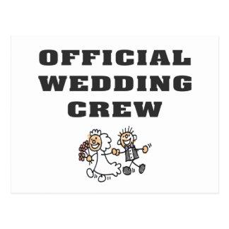 Official Wedding Crew Postcard