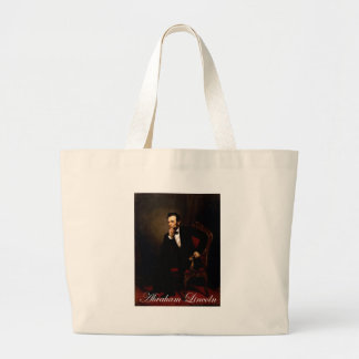 Official white house portrait of Lincoln Canvas Bags
