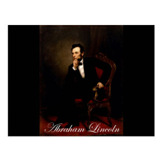 Official white house portrait of Lincoln Postcard