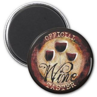 Official Wine Taster button sticker 2 Inch Round Magnet
