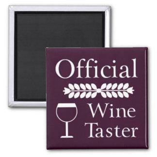 Official Wine Taster square magnet