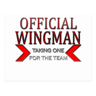Official WingMan Taking One For The Team Red Postcard
