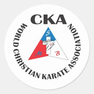 Official World Christian Karate Association Sticke Classic Round Sticker