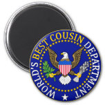 Official World's Best Cousin Seal Fridge Magnets