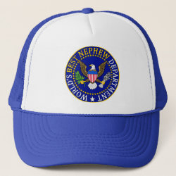 Trucker Hat with Official Nephew Seal design